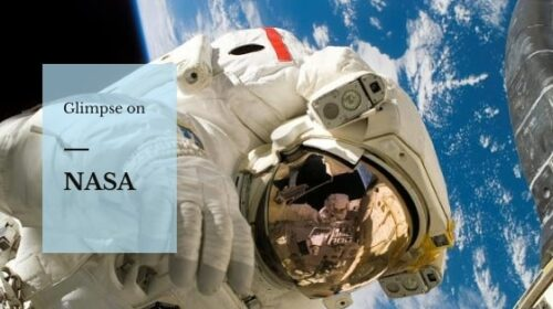 Astronaut in Space. A glimpse on NASA