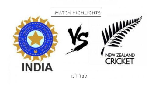 India vs New Zealand 1st T20