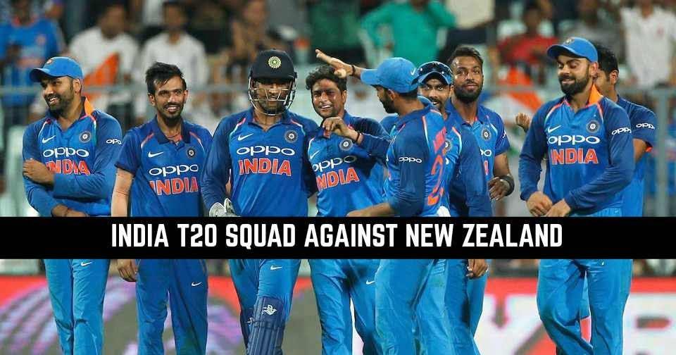 India vs New Zealand India T20 Squad against New Zealand