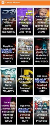 Latest leaked HD Bollywood and Telugu available movies on movies counter in 2019